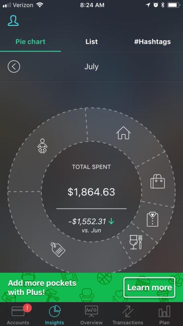 PocketGuard insights